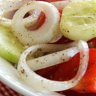 Marinated Cucumber, Onion, and Tomato Salad Recipe