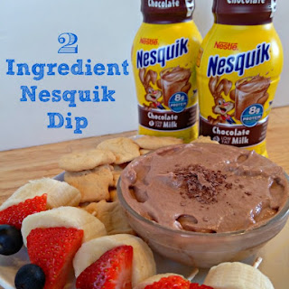 Two Ingredient Nesquik Fruit Dip