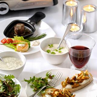 Gourmet crostini met cantharellen en Pittige Knoflooksaus