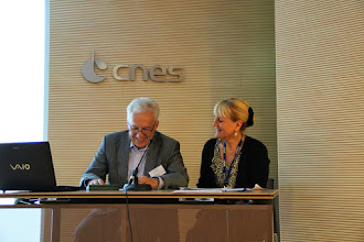 Photo: Chairpersons: Vladimir Aslanov (Samara State Aerospace University, Russia) – Marie-Christine Desjean (CNES France)
