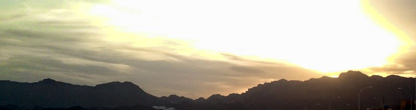Photo: Sunset over mountains