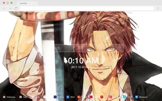 Shanks Hot Anime HD Wallpapers New Tabs Theme