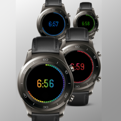 Rainbow Minimal watch face for watchmaker N3P