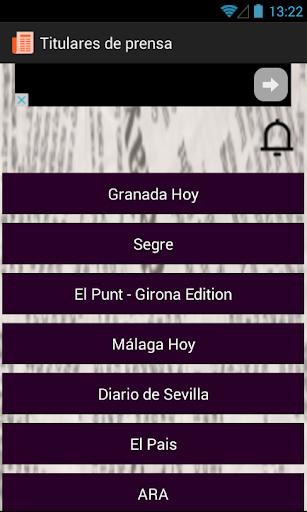 Titulares y Revista de Prensa