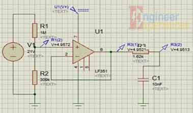 Voltage sensor circuit for MPPT solar based battery charger