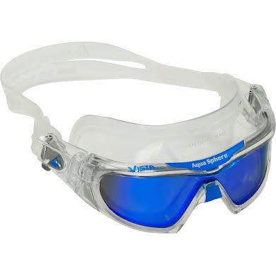 Aqua Sphere Vista Pro Goggles - Transparent w/ Blue Titanium Mirro Lens