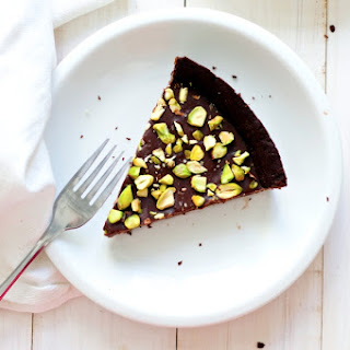 Salted Pistachio Chocolate Tart.