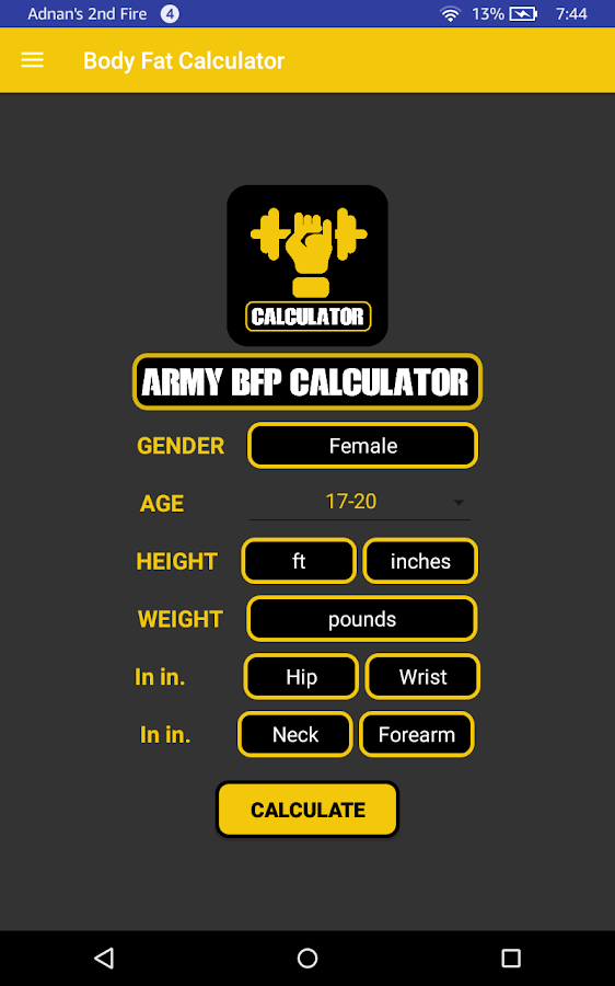 Army Fitness Calculator - APFT - Android Apps on Google Play