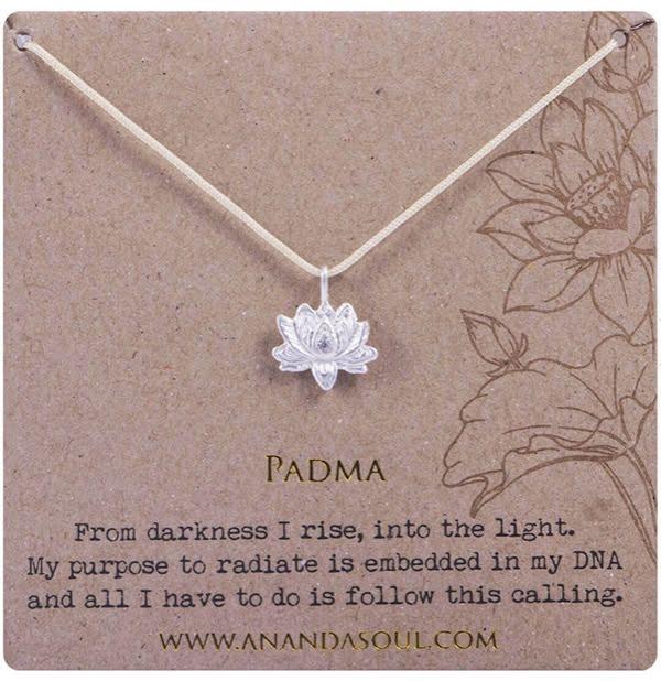 Ananda Soul, PADMA halsband silver med rem