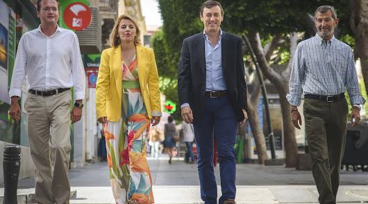 Los cuatro candidatos inician con LA VOZ la campaña electoral del 26J en Almería