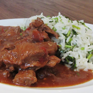 Slow Cooked Mexican Beef Stew with Lime and Coriander Rice Recipe