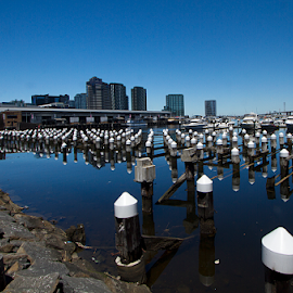 Dockland Waterfront by Steven De Siow - City,  Street & Park  Skylines ( city view, waterscape, city scene, waterfront, cityscape,  )