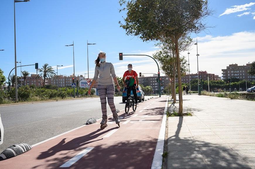 Carril bici de nueva creación en la Vega de Acá gracias a la inversión de los fondos europeos