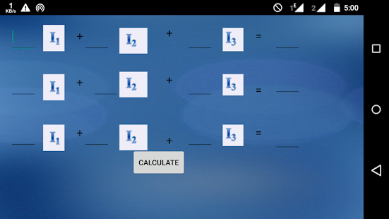 Kirchhoff's Law Calculator screenshot