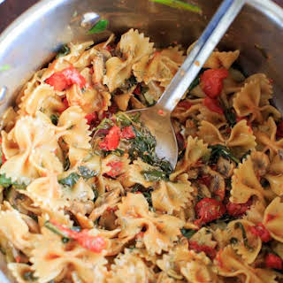 Vegan Spinach Mushroom Pasta Recipes.