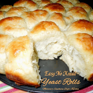 Easy No Knead Yeast Rolls.