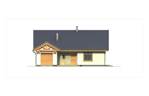 Ambrozja 2 wersja B z poddaszem do adaptacji z pojedynczym garażem - Elewacja przednia