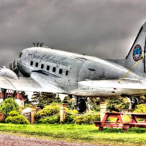 Spirit of Harbour Grace by Geoff Gosse - Transportation Airplanes ( plane, newfoundland, dc-3, douglas dc-3, spirit of harbour grace,  )