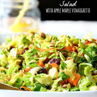 Brussels Sprout Salad with Apple Maple Vinaigrette