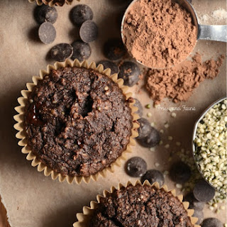 Low Carb Chocolate Hemp Protein Muffins