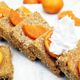 5-Ingredient Raw Orange Bars [Vegan, Gluten-Free].