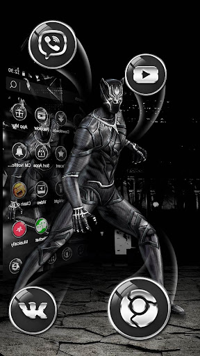 3D Black Hero Theme for PC