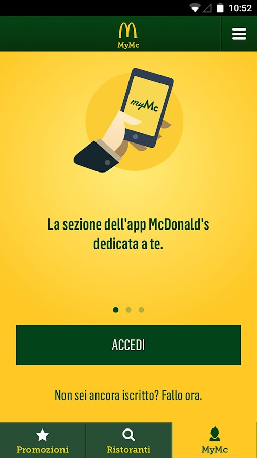 McDonald's Italia- screenshot