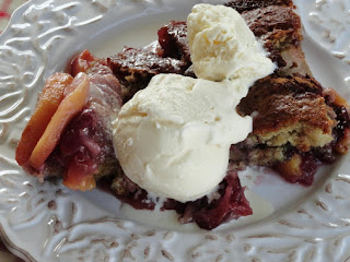 Fresh Peach & Cherry Cobbler Recipe
