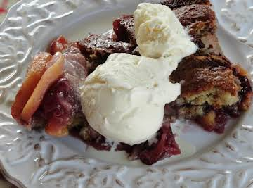 Fresh Peach & Cherry Cobbler