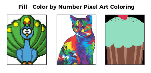 Fill Color By Number Pixel Art Coloring Applications Sur