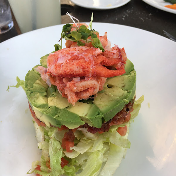 Lobster Cobb salad stack