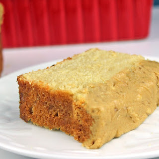 Brown Sugar Pound Cake with icing.