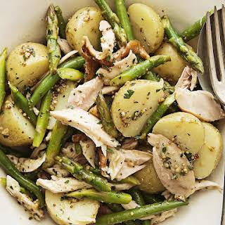 Rotisserie Chicken, Potato and Asparagus Salad.
