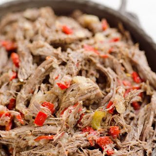 Pressure Cooker Shredded Italian Beef