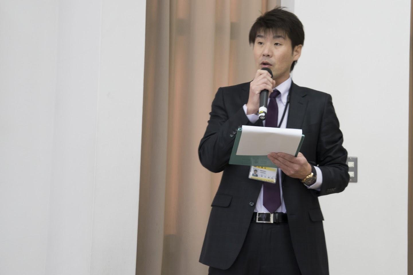 教育委員会・長谷育男 係長の司会