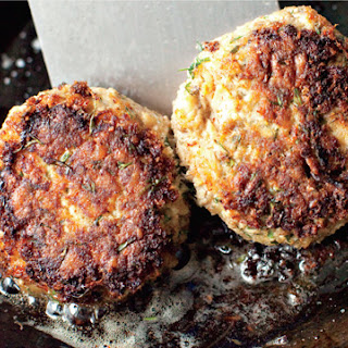 Pink Salmon Cakes with Dill and Mustard
