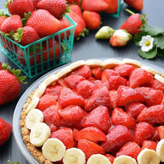 Vegan, Gluten-free Strawberry Pie with Walnut-Oat Crust