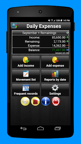 Daily Expenses 2 Android App Screenshot