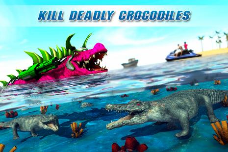 App Real Robot Crocodile Simulator- Robot transform APK for Windows Phone