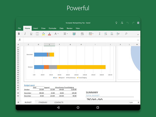 Microsoft Excel Apps (APK) gratis downloade til Android/PC/Windows screenshot