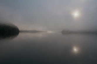 Photo: We woke on our last morning to heavy fog