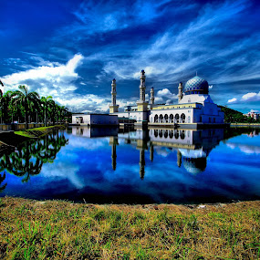 floating mosque by Md Arif - Landscapes Waterscapes