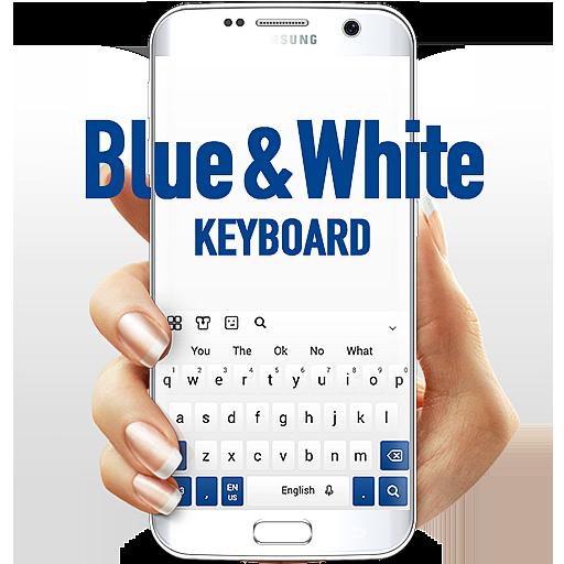 Blue White Keyboard