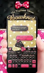 Bowknot GO Keyboard Theme - náhled