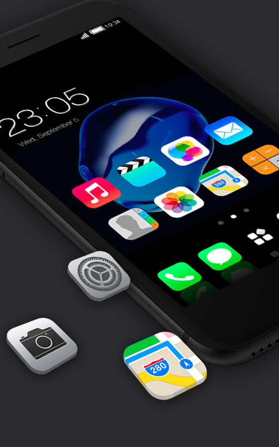 Stylish launcher theme for Iphone 7 HD- screenshot