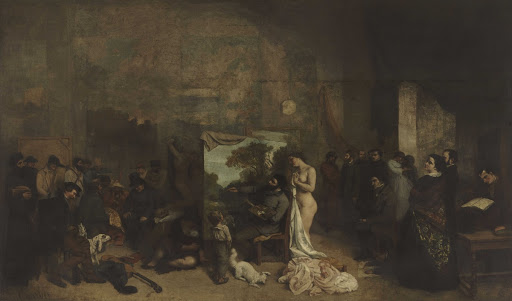 The Artist's Studio, a real allegory summing up seven years of my artistic and moral life Between 1854 and 1855