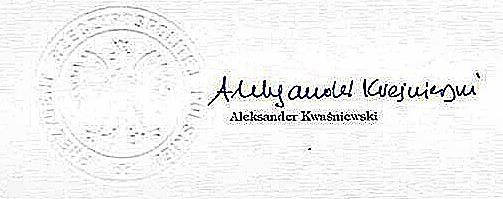 Wadliwa pieczęć urzędowa (okrągła) Prezydenta Rzeczypospolitej Polskiej używana na terytorium POLSKI, za czasów Aleksandra Kwaśniewskiego, jako rzekomego Prezydenta RP..