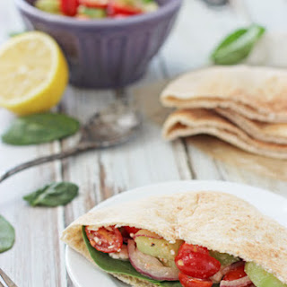 Greek Pita Pockets with Hummus