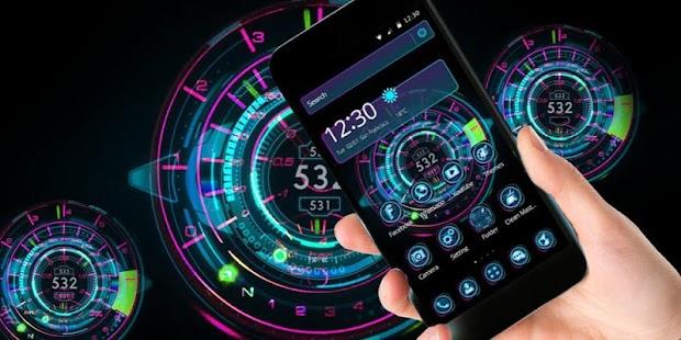 Neon Hologram Car Tech - náhled