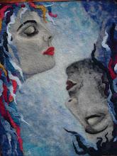 Photo: 213, Нетронина Наталья, Водное царство - Инь-Янь , Шерстяные, акриловые, вискозные волокна(сухое валяние шерсти), 50х40см